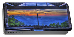 Pretty Place Chapel Sunrise 777  Portable Battery Charger by Reid Callaway