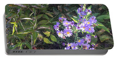 Pretty Purple Flowers Portable Battery Charger