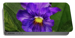 Pretty Purple Pansie Portable Battery Charger