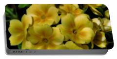 Pretty Yellow Primrose Portable Battery Charger