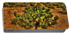 Prickly Pear In Bloom With Brittlebush And Cholla For Company Portable Battery Charger