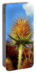 Prickly Thistle Portable Battery Charger by Nina Ficur Feenan