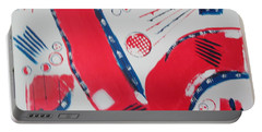 Pride - Glory - The Patriots Portable Battery Charger by Sharyn Winters
