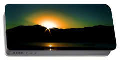 Priest Lake Sunrise Portable Battery Charger by David Patterson