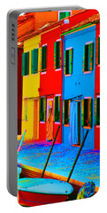 Portable Battery Charger featuring the photograph Primary Colors Of Burano by Donna Corless