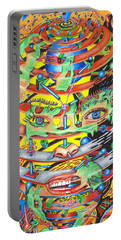 Primordial Inception Of Life At Daybreak Portable Battery Charger