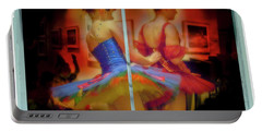 Portable Battery Charger featuring the photograph Primping Ballerinas by Craig J Satterlee