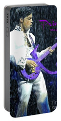Prince 1958 - 2016 Portable Battery Charger by Vannetta Ferguson
