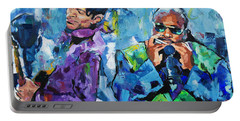 Portable Battery Charger featuring the painting Prince And Stevie by Richard Day