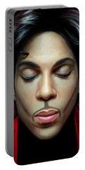 Portable Battery Charger featuring the painting Prince Artwork 2 by Sheraz A