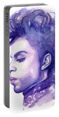 Prince Musician Watercolor Portrait Portable Battery Charger