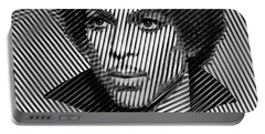 Prince - Tribute In Black And White Sketch Portable Battery Charger