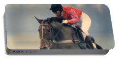 Princess Anne Riding Cnoc Na Cuille At Kempten Park Portable Battery Charger