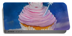 Portable Battery Charger featuring the painting Princess Cupcake by Judy Fischer Walton