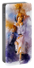 Princess Diana And Children Portable Battery Charger