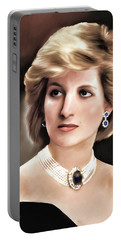 Portable Battery Charger featuring the digital art Princess Diana by Pennie  McCracken