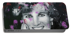 Portable Battery Charger featuring the painting Princess Diana by Richard Day