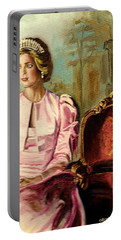 Princess Diana The Peoples Princess Portable Battery Charger by Carole Spandau