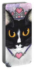 Princess Fiona -tuxedo Cat Portable Battery Charger