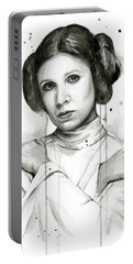 Princess Leia Portrait Carrie Fisher Art Portable Battery Charger