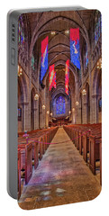 Portable Battery Charger featuring the photograph Princeton University Chapel by Susan Candelario