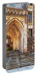 Portable Battery Charger featuring the photograph Princeton University Lockhart Hall Dorms by Susan Candelario