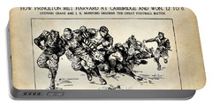 Portable Battery Charger featuring the mixed media Princeton Vs Harvard - New York Journal 1896 by Daniel Hagerman