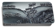 Portable Battery Charger featuring the painting Private Road by Kenneth Clarke