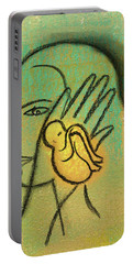Portable Battery Charger featuring the painting Pro Abortion Or Pro Choice? by Leon Zernitsky