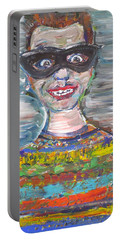 Portable Battery Charger featuring the painting Probably Reincarnated by Fabrizio Cassetta