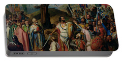 Procession Of Crusaders Around Jerusalem Portable Battery Charger by Jean Victor Schnetz
