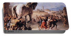 Procession Of The Trojan Horse  Portable Battery Charger