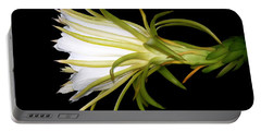 Profile Night Blooming Cereus Portable Battery Charger by Barbara Chichester