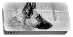 Profile Of A German Shepherd Portable Battery Charger