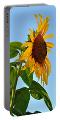 Profile Of A Sunflower Portable Battery Charger by Kathleen Sartoris