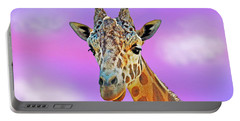 Portable Battery Charger featuring the photograph Profile Portrait Of A Giraffe IIi by Jim Fitzpatrick