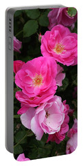 Portable Battery Charger featuring the photograph Profusion Of Pink by Doris Potter