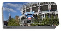 Portable Battery Charger featuring the photograph Progressive Field In Cleveland Ohio by Dale Kincaid