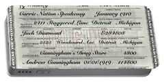 Prohibition Prescription Certificate Carrie Nation Speakeasy Portable Battery Charger
