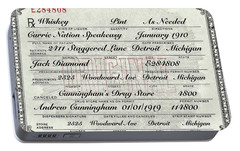 Portable Battery Charger featuring the photograph Prohibition Prescription Certificate Carrie Nation Speakeasy by David Patterson