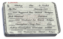 Portable Battery Charger featuring the photograph Prohibition Prescription Certificate My Bar, by David Patterson