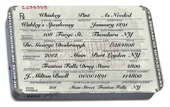 Portable Battery Charger featuring the photograph Prohibition Prescription Certificate Speakeasy by David Patterson
