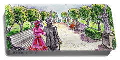Promenade Through The Park Portable Battery Charger