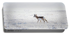 Pronghorn In The Hoar Frost Portable Battery Charger