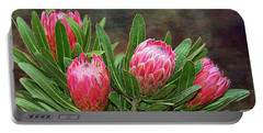Portable Battery Charger featuring the photograph Proteas In Bloom By Kaye Menner by Kaye Menner