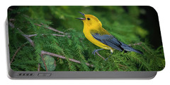 Portable Battery Charger featuring the photograph Prothonatory Warbler 9809 by Donald Brown