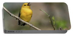 Prothonotary Warbler Singing Portable Battery Charger