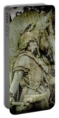 Paris, France - Proud Warrior And The Pigeon Portable Battery Charger