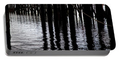 Provincetown Wharf Reflections Portable Battery Charger by Charles Harden