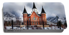 Provo City Center Temple Lds Large Canvas Art, Canvas Print, Large Art, Large Wall Decor, Home Decor Portable Battery Charger by David Millenheft